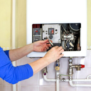 Central Heating Engineer Fixing Boilerin Fareham