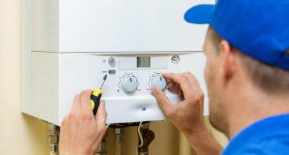 Central Heating Engineering Completing Boiler Repair In Fareham